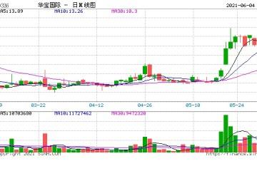 华宝国际高位回落股价大跌9%内资昨日卖出近50万股